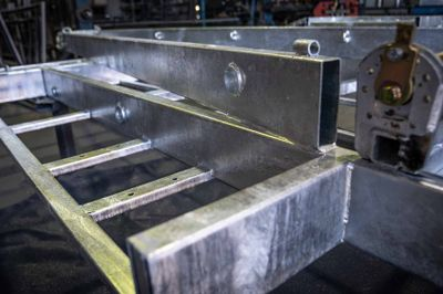 150mm Galvanized steel chassis frame