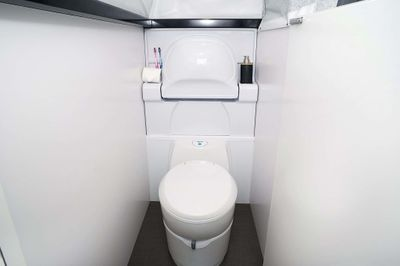 Internal ensuite with separate toilet & shower and sink