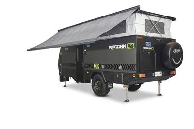 Wind Out Awning for a super quick and easy set-up