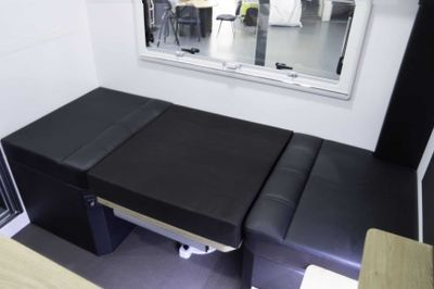 Convert the Café Dinette to a bunk with drop down table and cushion insert - 4 berth