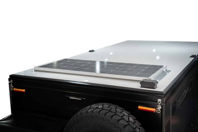 1x 120W Solar Panel - Roof Mounted