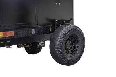 Drop down assisted standard spare wheel upgrade