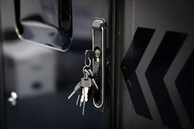 Triple lock security door with fly screen
