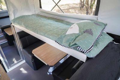 Folding top bunk