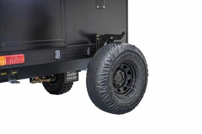 Upgrade standard spare wheel and tyre mount to drop down assisted with gas struts - each