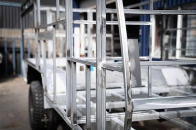 Galvanized tubular steel frame