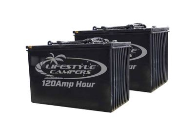 2 x 120amp Hour Batteries