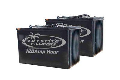 2 x 120amp Hour Batteries